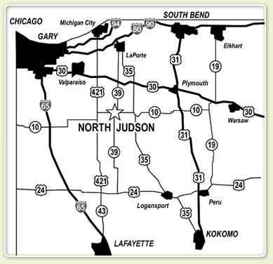 Northwest Indiana Map