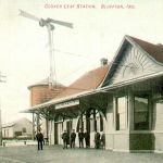 Bluffton, Indiana's Clover Leaf Depot is one of two depots built to this design. The other is at Veedersburg. The Marion depot is similar by having the arched windows. Notice the order board on this 1903 built depot. The Marion depot had the same flimsy set up. What holds it up? The depot was demolished in January 1991. Postcard is from Bob Albert collection.