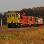 HVRM's 2010 Halloween train heading towards LaCrosse, IN.