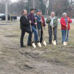 Ground breaking ceremony for Grasselli Tower.