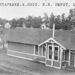 The C&O depot at Lake Bruce, Indiana was a common standard design for this area, although some were different lengths or a mirror image. Lake Bruce never became a major resort, as did some other area lakes. I don't know when the depot was closed or demolished, but even the tracks are gone as of 1988. Postcard is from the Bob Albert collection.