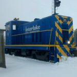 Interlake Iron #11 is out in the snow after a heavy snow fall during December 2010.