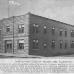Anyone remember Dodge's Institute of Telegraphy at Valparaiso, Indiana? To become a telegraph operator, person could learn telegraphy, typewriting and penmanship at this school. The Grand Trunk Western had a train wire installed in the school for instruction of advanced students. Postcard from the Hoosier Valley RR Museum collection.