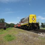 EL 310 leads a passenger train over the former C&O mainline of Indiana.