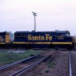 AT&SF U25B #1603 - North Judson, Indiana