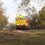 Halloween Train Arriving in LaCrosse